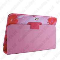 Butterfly PU leather tablet case for Samsung N8000 with stand function