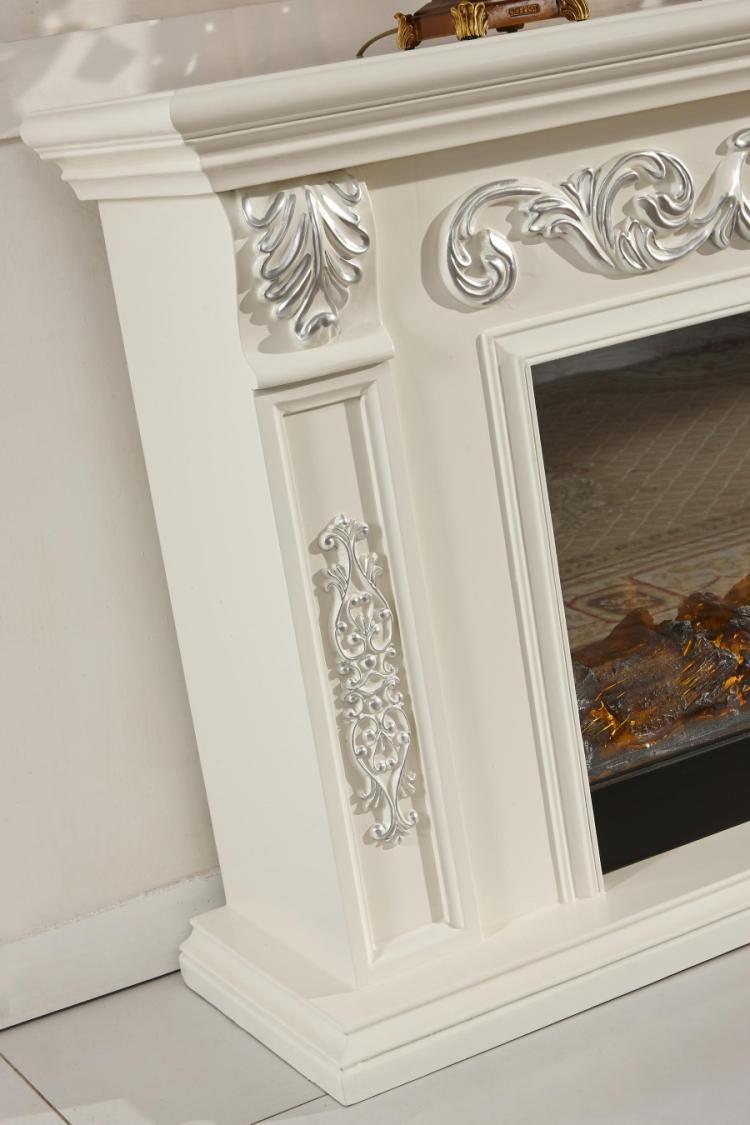 marco de madera para la chimenea decorativa elctrica tv stand con accesorios de calor para la