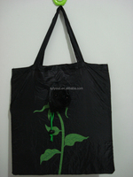 Supermarket nylon resuable folding tote shopping bag