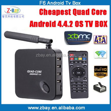 high quality android smart tv converter box support Full HD 1080P