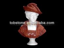 sculpture buste en marbre sculpté à la main
