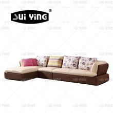 2015 living room furniture design low seat sofa fabric/ leather