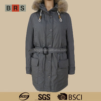 2015 WINTER NEW ARRIVAL WOMAN JACKET WITH REAL FUR HOOD FOR SALE