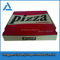custom printed classic style pizza delivery box with logo