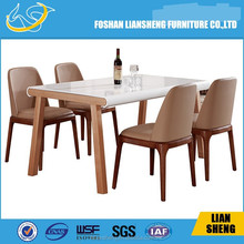 DT014 2015 new model White wooden dining room furniture ,antique french table