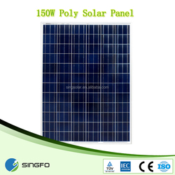 high efficiency 18v 150Watts Monocrystalline or Polycrystalline photovoltaic chinese solar panel for south amercia