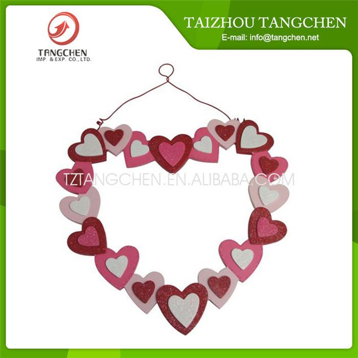 Красный крытый деревянный в форме сердца звезда свадьба двери подарок