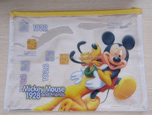 High quantity large clear yellow mickey stationery bag