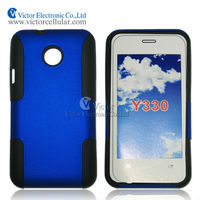 Alibaba China cell phone Case for Huawei Ascend Huawei Ascend Y330 combo PC silicon case