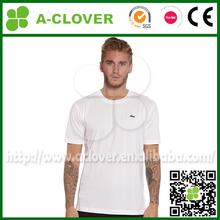 animal crocodile woven printing blank plain design pure white men t-shirt