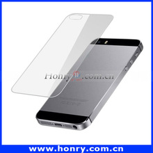 2 in 1 (Front Screen + Back Cover) Clear LCD Tempered Glass Screen Protector for iPhone 5
