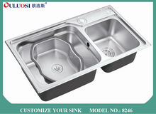 luxury series short-time delivery Professional factory produced rustic kitchen sink 8246