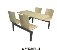Durable fast food table restaurant dining table and chair student canteen table set