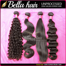 Premium Quality Brazilian Virgin Remy Human Hair BundlesTangle Free No Shedding Can be dyed Qingdao Bella Hair Products