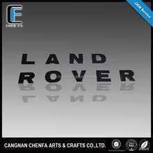 custom Hot sale 3D ABS plastic chrome plated adhesive car emblem for land rovers