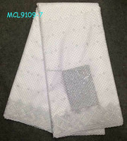 MCL9109 high quality cotton fabric african big heavy lace swiss voile cotton lace fabric