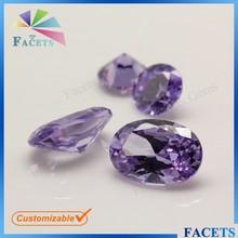 FACETS GEMS Wholesale Oval Precious Stone Color Cubic Zirconia Supplier