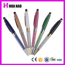 promotion pink metal ball pen, pink crystal ball pen, pink pen with crystal made in china