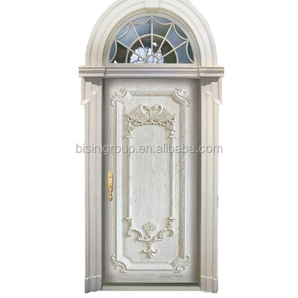 04 Single Door Swing Exterior White Handcarve