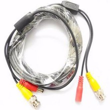 CCTV Camera BNC DC Cable DC Plug size:5.5*2.1mm BNC male to male plug Total length:33ft