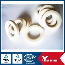 Flat Silicone white Rubber o-ring, flat rubber washer with heat proof for sealing