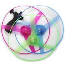 cheap light up toys pull string flying toy led flying disc led flying toy for kids