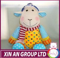 plush toys plush baby rocking sheep with wooden base