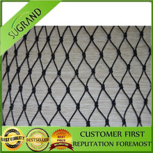 Factory derict strong durable black knot anti bird netting,best price stainless steel bird netting