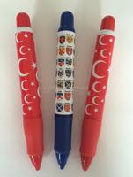 2015 hot sale cute custom 3d printed pen for promotional giant pen
