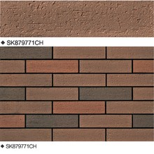 popular design new decorative ceramic bricks split similie tiles for exterior wall coating of house