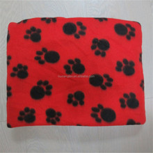 Cheap Price Offset Print Foot print Blanket Polyester for Dog Bed, Puppy