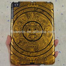 FL659 Hot selling!High quality metal aluminum case hard protective case for ipad mini sun design Maya pattern case for ipad min