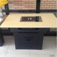 2015 hot sale high efficiency korean bbq tables for restaurant