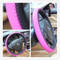 Size Can Be Customized Leather Steering Wheel Cover/Car Steering Wheel Cover/ Sheepskin Joint Cover