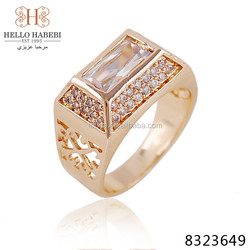 New arrival high quality gold plated ring 4 gram gold Wedding ring for men