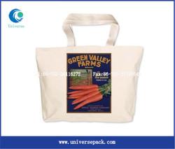 folding canvas pouch fashion custom cotton canvas zipper pouch promotional