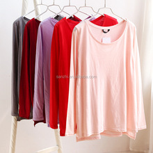 Beautiful Girl Casual Loose Sleeveless Big Neck Blank Modern Bamboo T-shirts Wholesale