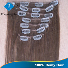 Wholesale Brown Hair 100% Human Remy Hair 32 inch hair extensions clip in