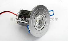 2012 Newest COB Led grey casing Anti-glare CRI>75 Bridgelux chip Patent DIWL Lens 5w led downlight HOT!!!