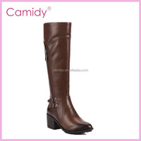 Manufacturing Midle heel Ladies Long Boots ladies winter boots