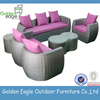2015 New style grey rattan outdoor sofa wicker garden sofa with comfortable cushions for wholesale