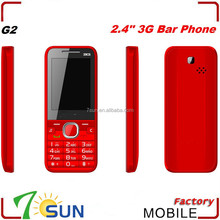 made in china cheapest 2.4 inch 3G bar phone low price 3g china mobile