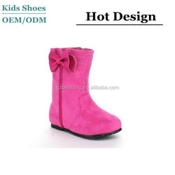 2015 toddler Suede toddler boots round toe with butterfly bow bootie