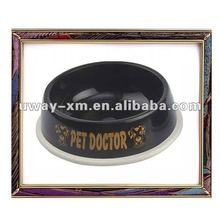 2012 new design big size plastic black color pet bowl for dogs and cat,dog bowl ,cat bowl