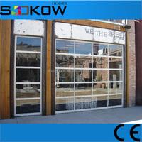 industrial door with glass transparent windows