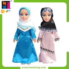 2015 New Plastic Muslim Doll With Arabic IC Dress Making Doll