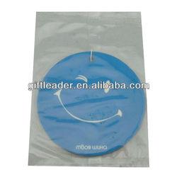Custom Smile Face Round Paper Car Air Freshener