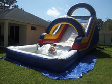 top sale inflatable big dipper water slide with pool