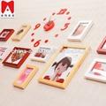 decoración de hogar directa de china 11p es establecer marcos de fotos de la imagen de madera caja de la sombra