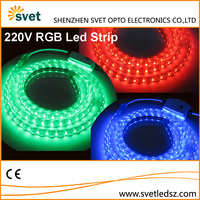 100M/Roll AC 220V High Voltage Led Flexible Strip Light SMD 3528 60Leds/M 8mm PCB 9W/M